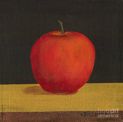 Painting - An Apple by Billinda Brandli DeVillez