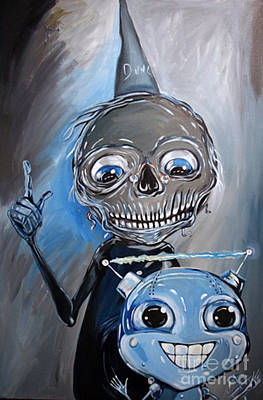 Dunce Cap Painting - An Apt Pupil by Xavier Lopez