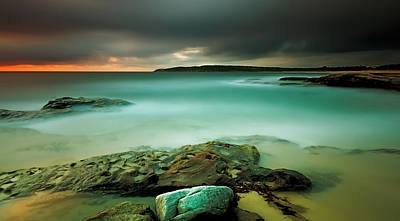 Maroubra Photograph - An Aqua Dawn by Mark Lucey