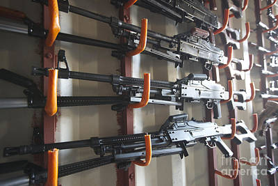 An Armory Of Pk Machine Guns Designed Art Print by Terry Moore