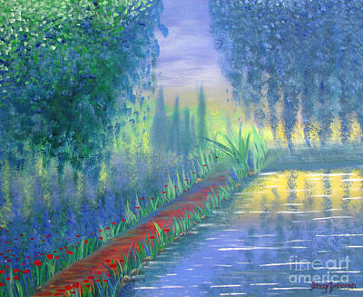 Print featuring the painting An Artist's Garden by Stacey Zimmerman