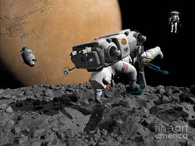 Adults Only Digital Art - An Astronaut Makes First Human Contact by Walter Myers