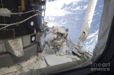 Photograph - An Astronaut Participates by Stocktrek Images