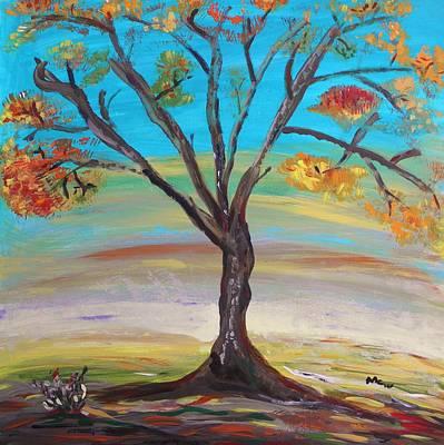 An Autumn Locust Tree Original