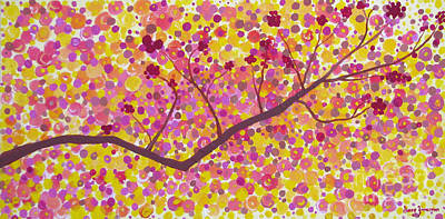 Print featuring the painting An Autumn Moment by Stacey Zimmerman