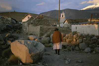 An Aymara Indian Woman Walks Art Print