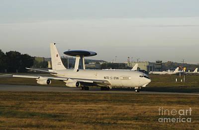 An E-3 Sentry At The Nato Awacs Base Art Print