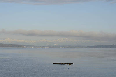 Y120817 Photograph - An Empty Dock Floating In The Puget Sound by Aaron McCoy