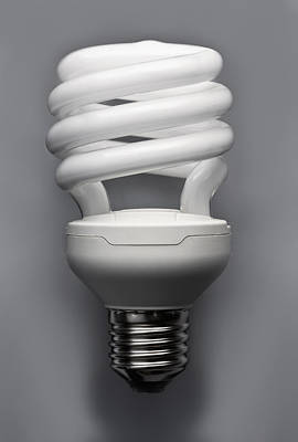 Y120817 Photograph - An Energy Efficient Lightbulb by Larry Washburn
