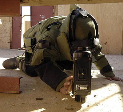 Improvised Explosive Device Photograph - An Eod Member Places An X-ray Machine by Stocktrek Images