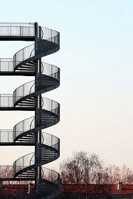 An Escape Stairway Art Print by Gerard Hermand