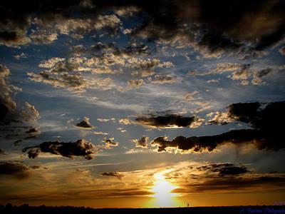An Evening Walk Under The Sunset Art Print by Aaron Burrows
