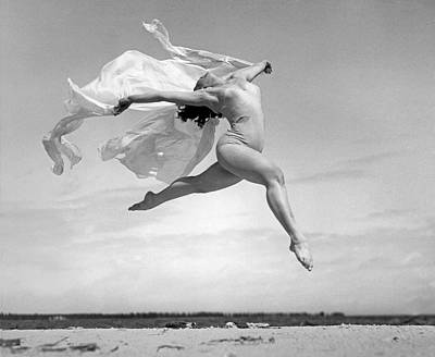Beach Scenes Photograph - An Exuberant Dance To Spring by Underwood Archives