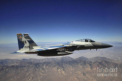 Roaring Red - An F-15e Strike Eagle From The 65th by Stocktrek Images