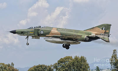 Fine Dining - An F-4 Phantom Of The Hellenic Air by Giovanni Colla