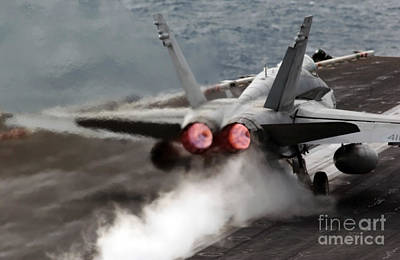 An Fa-18 Hornet Launches Art Print