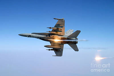Lovely Lavender - An Fa-18c Hornet Aircraft Tests by Stocktrek Images