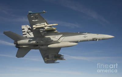 An Fa-18f Super Hornet Armed With An Art Print by Stocktrek Images