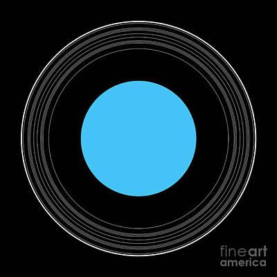 Uranus Digital Art - An Illustration Showing The Details by Ron Miller