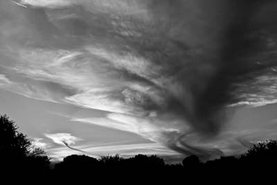 Photograph - An Image Of Winter Dusk - Bw by Nicholas Evans