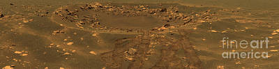 Photograph - An Impact Crater In The Meridian Planum by Stocktrek Images