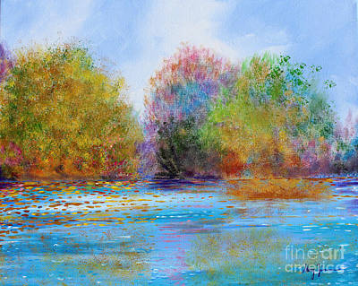 Print featuring the painting An Impressionist's Symphony by Stacey Zimmerman