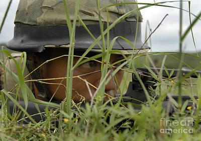 Infantryman Photograph - An Infantryman With The Royal Thai by Stocktrek Images