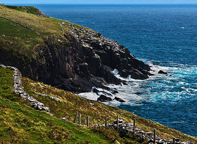 Photograph - An Irish Coastline by Edward Peterson