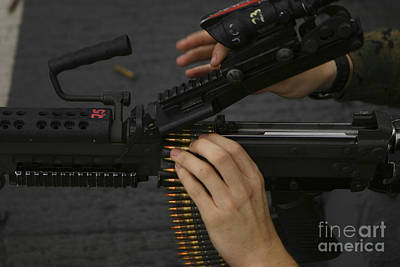 An M-249 Squad Automatic Weapons Art Print