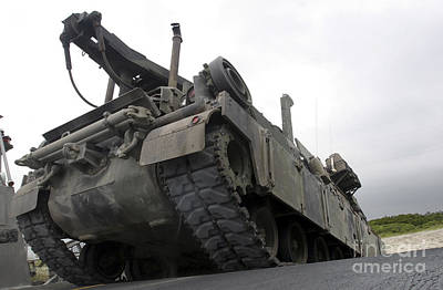 Photograph - An M88a2 Hercules Recovery Vehicle by Stocktrek Images