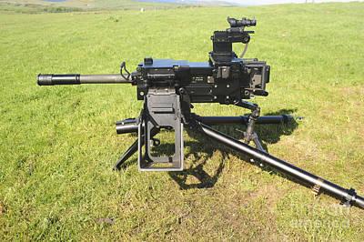 An Mk19 40mm Machine Gun Art Print by Andrew Chittock
