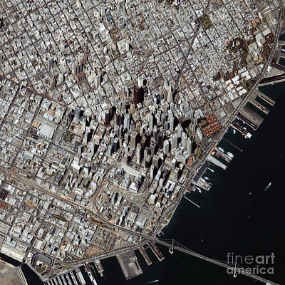 An Oblique-angle View Of San Franciscos Art Print