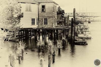 Art Print featuring the photograph An Old Dock by Joe Urbz