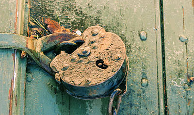 Photograph - Old Lock by Katie Wing Vigil