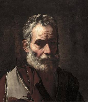 Old Age Painting - An Old Man by Jusepe de Ribera