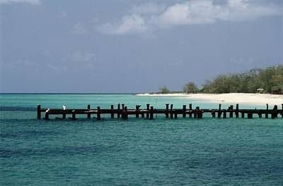 Docks Etc Photograph - An Old Pier Of Grand Turk Island by Wolcott Henry