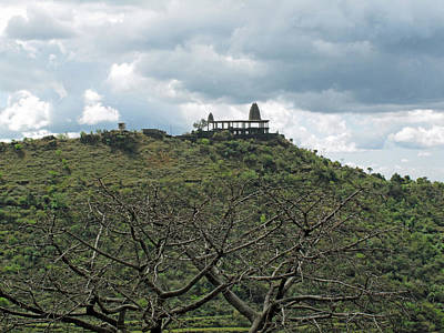 An Old Temple Building On Top Of A Hill With A Lot Of Clouds In The Sky Art Print by Ashish Agarwal