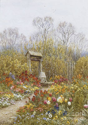 Building Exterior Painting - An Old Well Brook Surrey by Helen Allingham