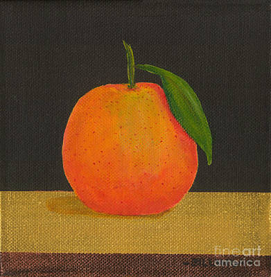 Painting - An Orange by Billinda Brandli DeVillez