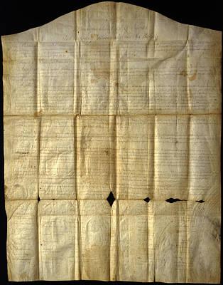 An Original Copy Of The Canandaigua Art Print by Joseph D. Lavenburg