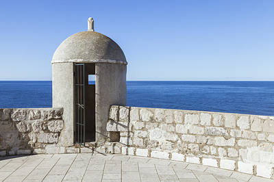 An Outpost Overlooking The Adriatic Sea Art Print by Greg Stechishin