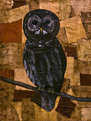 Owl Mixed Media - An Owl by Kate Boone