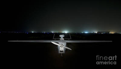An Rq-5 Hunter Unmanned Aerial Vehicle Art Print by Terry Moore