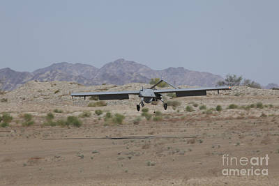 An Rq-7b Shadow Unmanned Aerial Vehicle Art Print