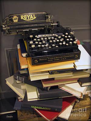 Typewriter Photograph - Analog Times by Eena Bo