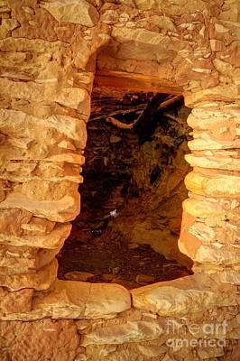 Anasazi Doorway - Tower Ruins - Comb Ridge Art Print by Gary Whitton
