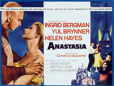 Anastasia, Yul Brynner, Ingrid Bergman Art Print