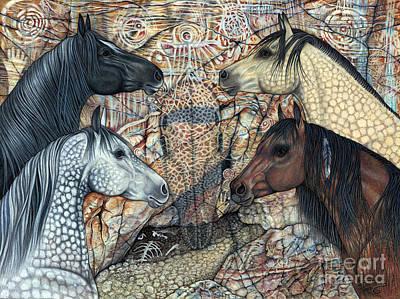 Terra Drawing - Ancestors by Deborah Destiny Smith