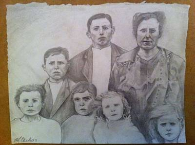 Drawing - Ancestry by Mike Eliades