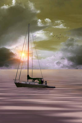 Anchored For The Night Art Print